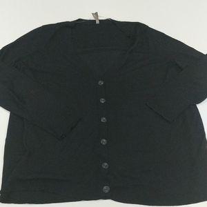 Pennington's black button-up cardigan